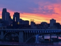 Early spring sunset in Minneapolis.
