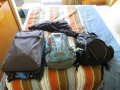 All the items we bringing to Alaska fit into these three bags!
