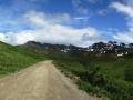 A road near Hatcher Pass.