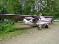 Talkeetna, AK, one of the only places that I know of that lets you park your plane in your drive way.