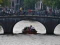 Boats and canals in Amsterdam.