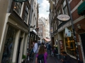 Tiny streets in Amsterdam.