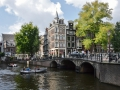 Canals and cool buildings in Amsterdam.