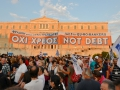 """These are anti-austerity protesters and will vote """"no"""" on the July 5 referendum."""