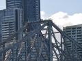 Brisbane, Australia- people can pay to climb to the top of the bridge.
