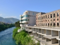 The bombed out building was one of the most popular hotels and fancy hotels in Mostar prior to the war.