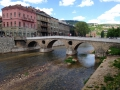 This is the bridge where arch duke Ferdinand was shot. World War started shorterly thereafter!