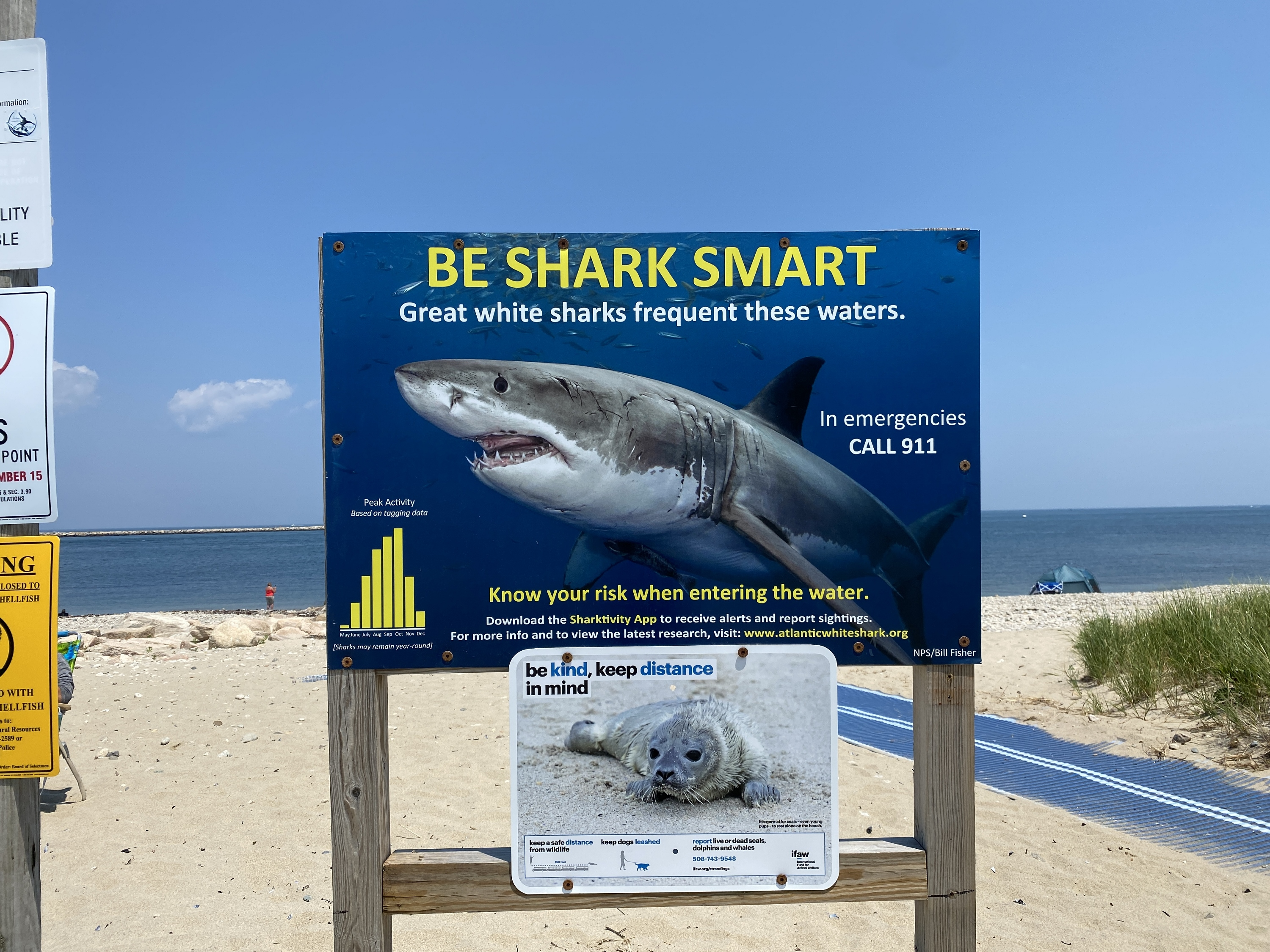 Not a friendly or welcoming sign in Cape Cod.