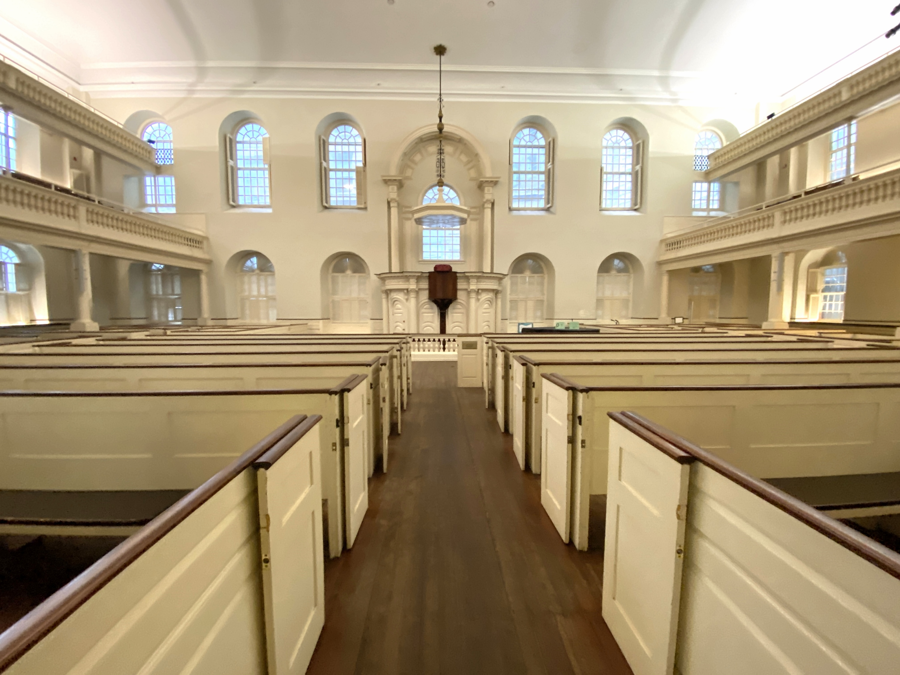 Old South Meeting House, Boston, MA. Everyone was at home because of the tropical storm.