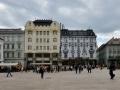 Bratislava town square, it was empty!
