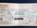 Slovakia and Hungary are pretty poor so when I took the train between Budapest and Bratislava I ended up getting all sorts of marks by hand on my ticket!