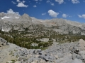 The view of the Emerald Lakes valley area from Morgan Pass in the Eastern Sierras.