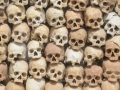 Bones from the killing field near Siem Reap. The Pol Pot time was very bad.