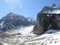 The Plain of Six Glaciers trail behind Lake Louis was stunningly beautiful.