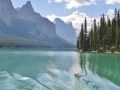 Maligne Lake was strikingly beautiful and we were lucky to be on the lake on such a still day.