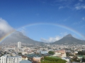 We saw a rainbow from our place in Cape Town!