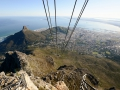 The Table Mountain Cable Car goes really high up.
