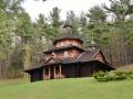 Ukrainian Catholic church in the Catskills. No nails were used to build the church.