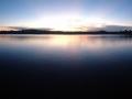 Beautiful evening on Echo Lake in Wisconsin.