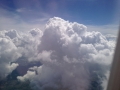 It was a bumpy flight home. Lots of storms popping up.