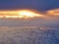 Sunrise on the plane around Santiago.