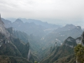 The view from above Zhangjaijie. Super steep drop offs!