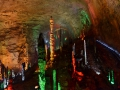 Silver Cave near Zhangjaijie NP. Such a weird experience. Bright neon lights everywhere.