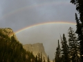 Rocky Mountain National Park. Double FREAKING Rainbow!