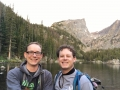 At Emerald Lake in Rocky Mountain National Park!