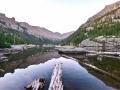 Near sunrise on the Black Lake trail in RMNP.