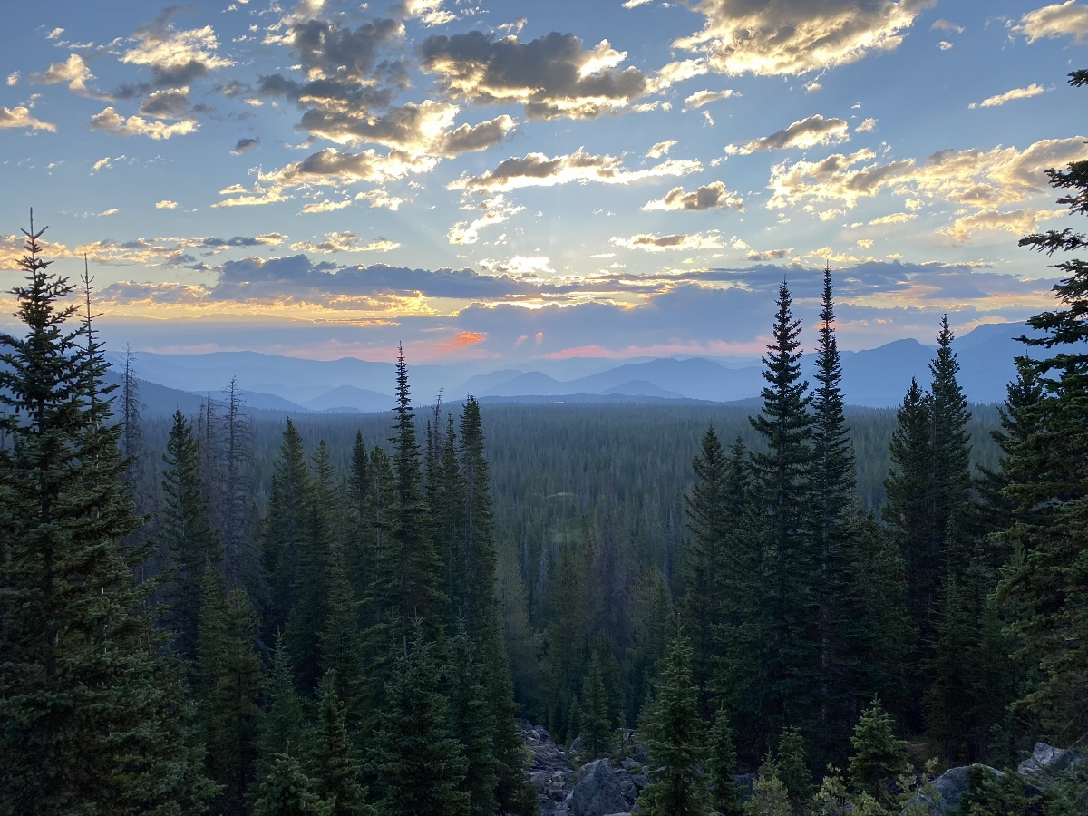 Sunrise in Rocky Mountain National Park