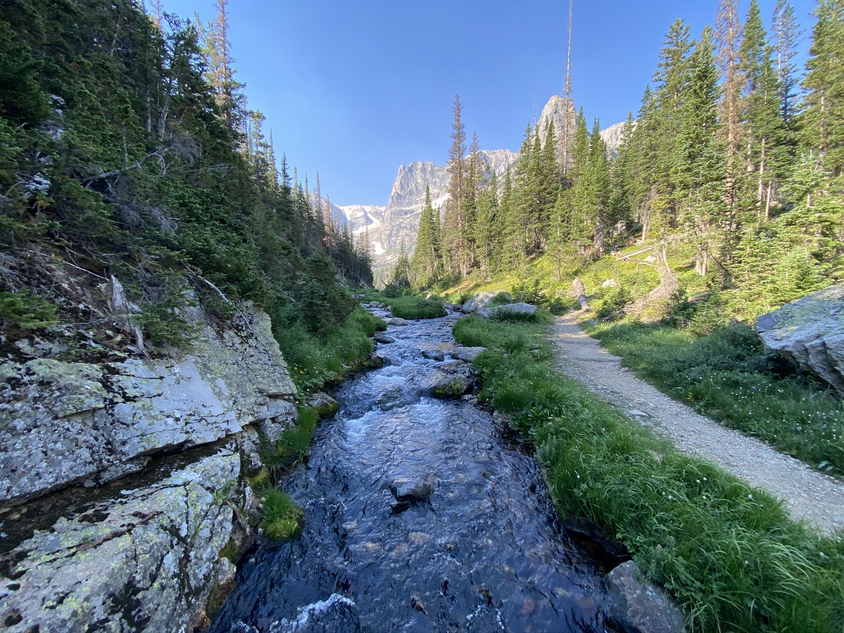 Fern Lake trail in Rocky Mountain National Park