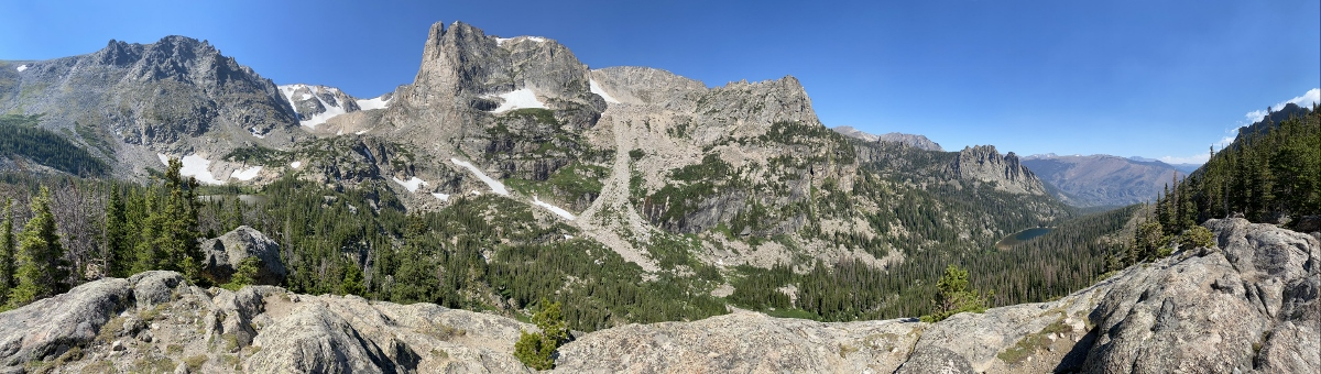 Above Fern and Odessa Lake in Rocky Mountain National Park