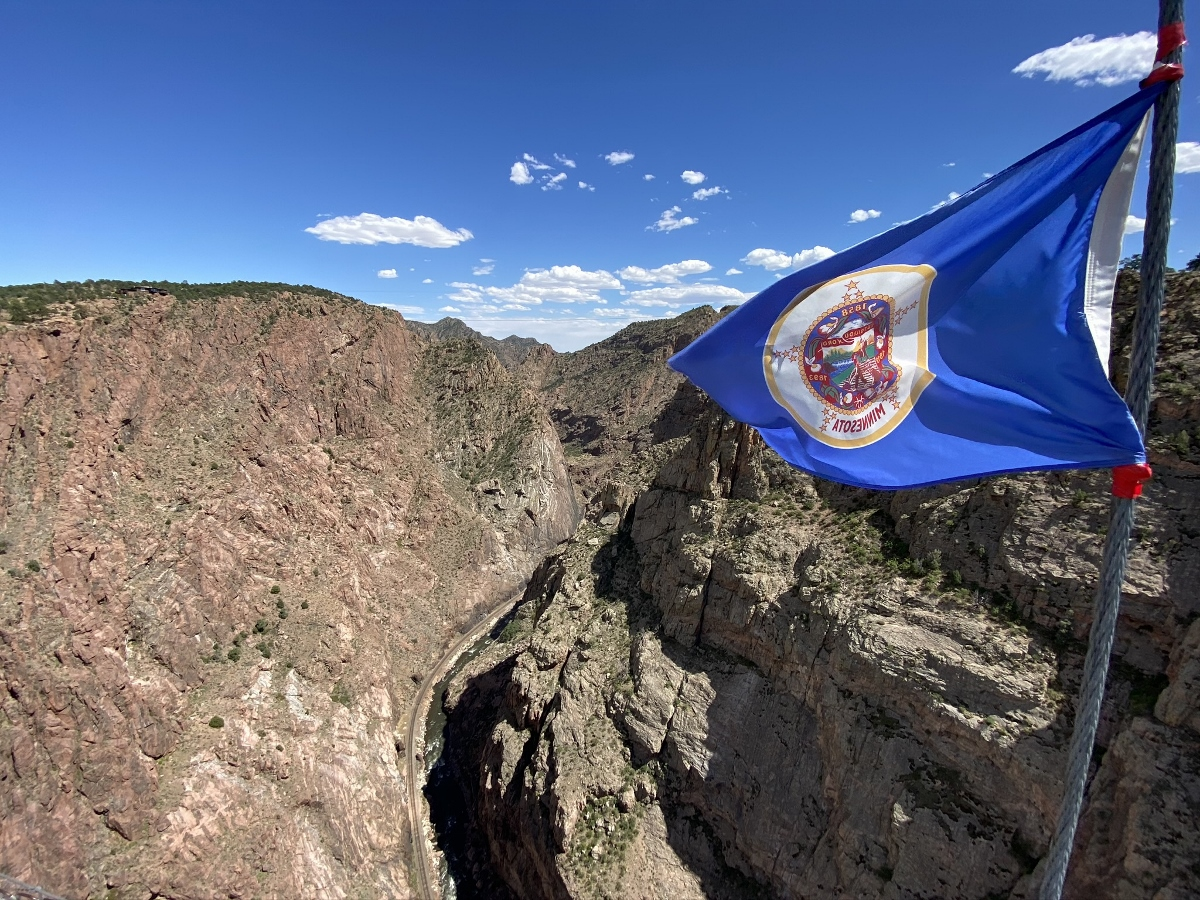Minnesota Flag at Royal Gorge