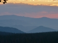 Smoky sunrise in Colorado