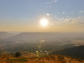 Golden Colorado - a smoky sunrise is erily similar to the pollution filled skies of India and China