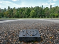 The outline of baracks #10 for prisoners at Dachau.