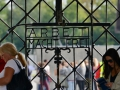 The entry gates at Dachau - work sets one free.
