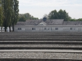 Dachau concentration camp. The boards running horizontally across the bottom are all outlines of the baracks at the camp.