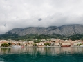 The town of Makarska between Split and Dubrovnik. Very cool city! The top of the mountains are clouded but they are very huge!