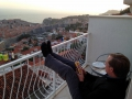 The view from our balcony in Dubrovnik. It was a great place to enjoy a drink and watch the sunset :).