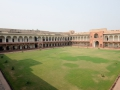 Inside the Red Fort in Agra.
