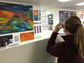 We visited artomatic in DC. Some dude did a 3D painting.