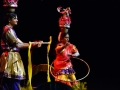 Indian dancing - these two balanced the massive head items while dancing!