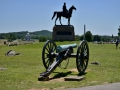 There's monuments and relics all over the battlefield, this is the union side. There are no less than four monuments in this picture. Gettysburg, PA.