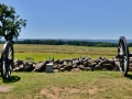 Artillery setup on the Union side overlooking the battlefield. Gettysburg, PA.
