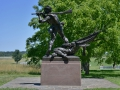 """This is the Mississippi memorial at Gettysburg. Little known fact: Mississippi pioneered the use of guns as flutes. Historical accounts showed Mississippi\'s enemies were super confused and left \""""the crazies playing with their guns\"""" alone. Gettysburg PA"""