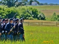 Re-enactment of how the soldiers fought. Gettysburg, PA.