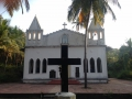 Christian church in Goa. Goa was a former Portugese colony for about 450 years.