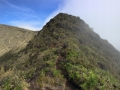 The weather was so diverse in Hawaii, we were able to hike along a knife edge where it was cloudy and drizzly on one side and sunny on the other!